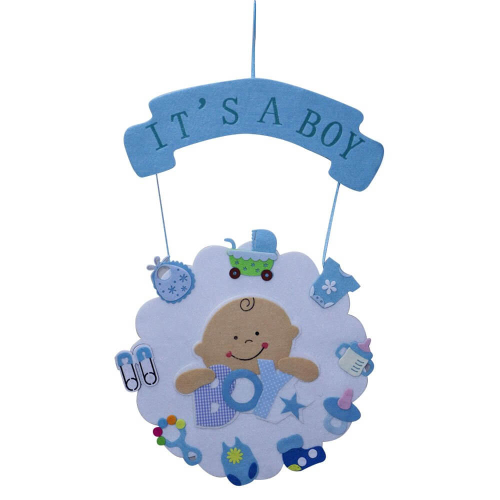 foam welcome baby banner hanging