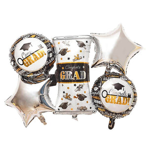 5pc Graduation foil balloon