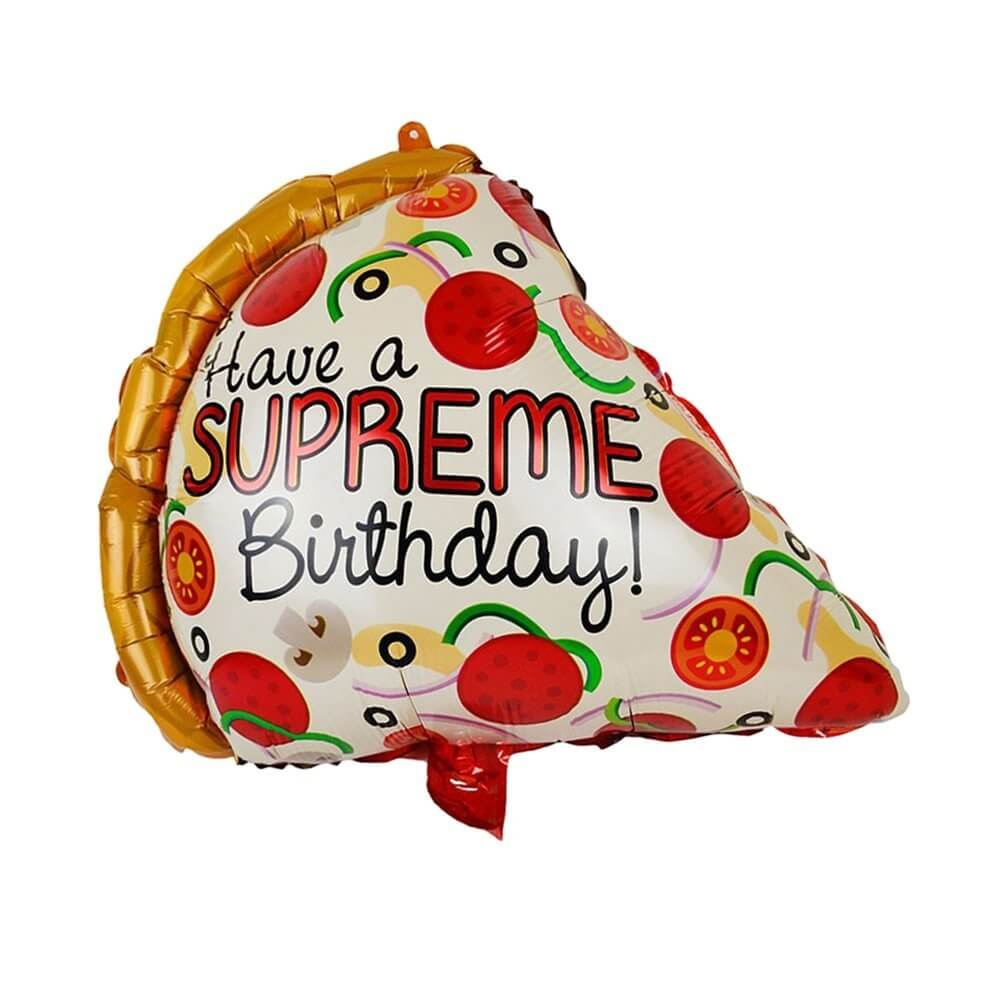 Pizza foil balloon