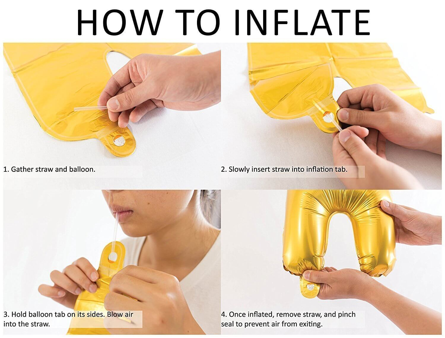 How to inflate foil balloon