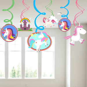 Theme based Swirls Dizzy Danglers Party Swirl Spiral Hanging Pendants