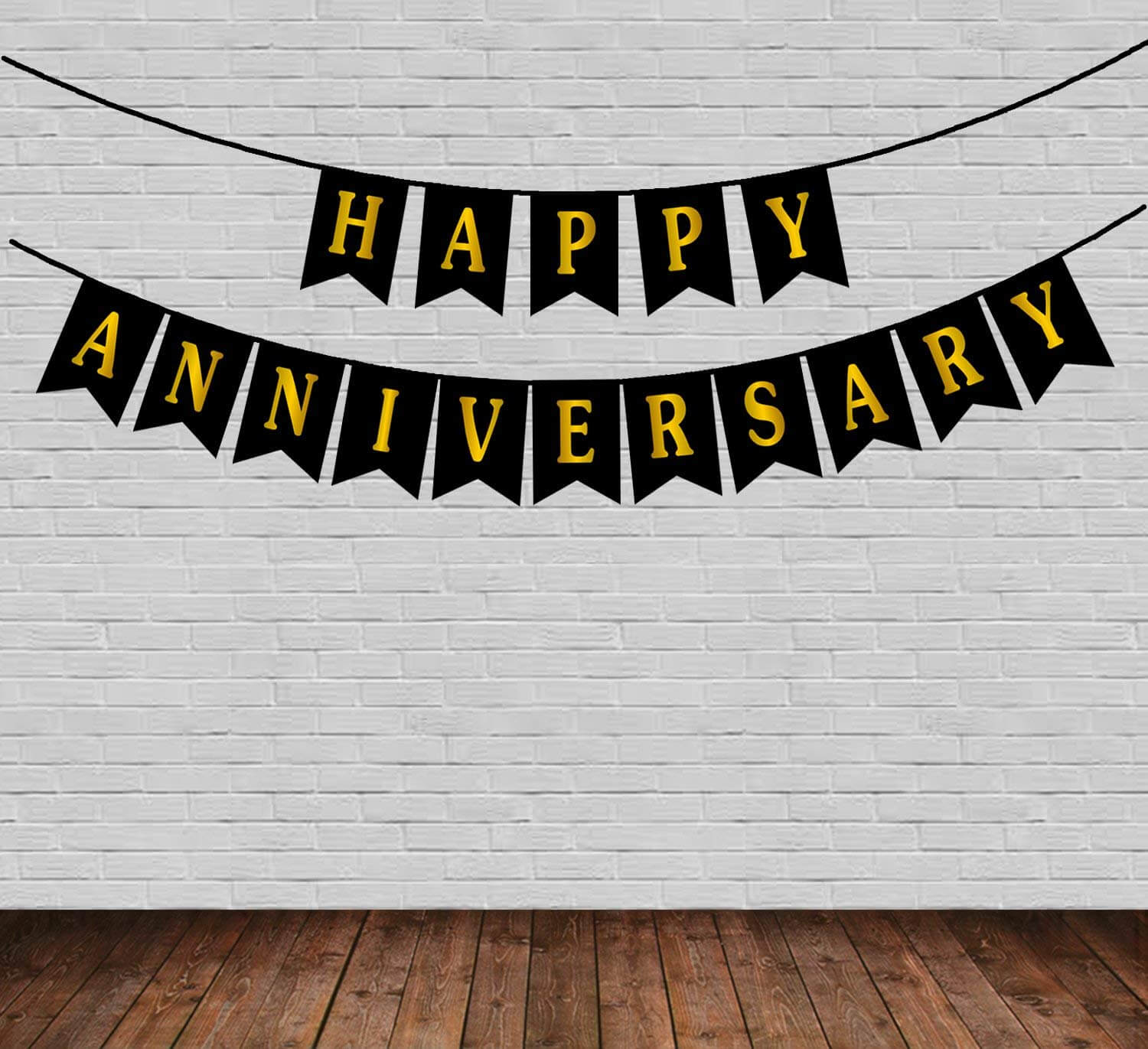 happy anniversary paper banner