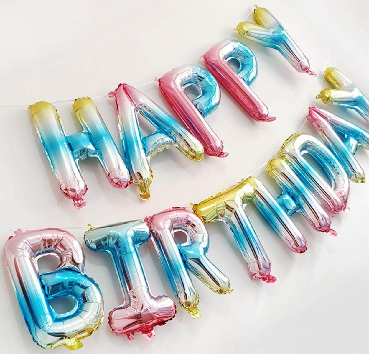 Variety of Happy birthday foil balloon total 13 letters