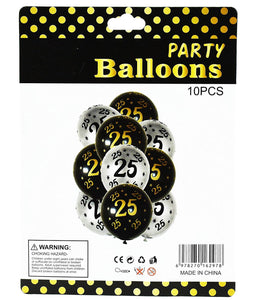 Silver jubliee/25th Anniversary or birthday Latex balloon