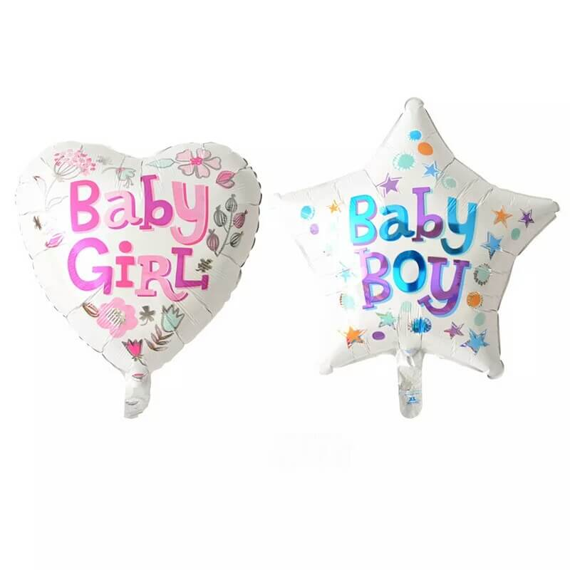 variety of  baby shower foil balloon