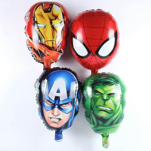 Avengers  face theme set of 4 balloons
