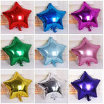 STAR SHAPE FOIL  BALLOONS 18 INCHES
