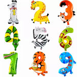 Number animal foil balloon