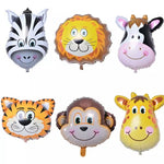 jungle theme/animal face foil balloon set of 5