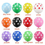 Variety of colors in Dotted Latex Balloon 25pc Pack