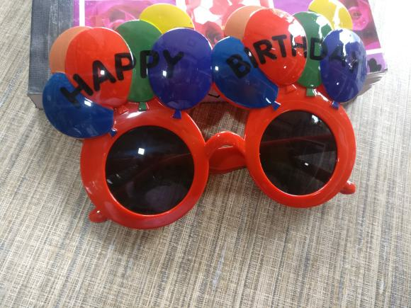 Birthday photo booth props goggles