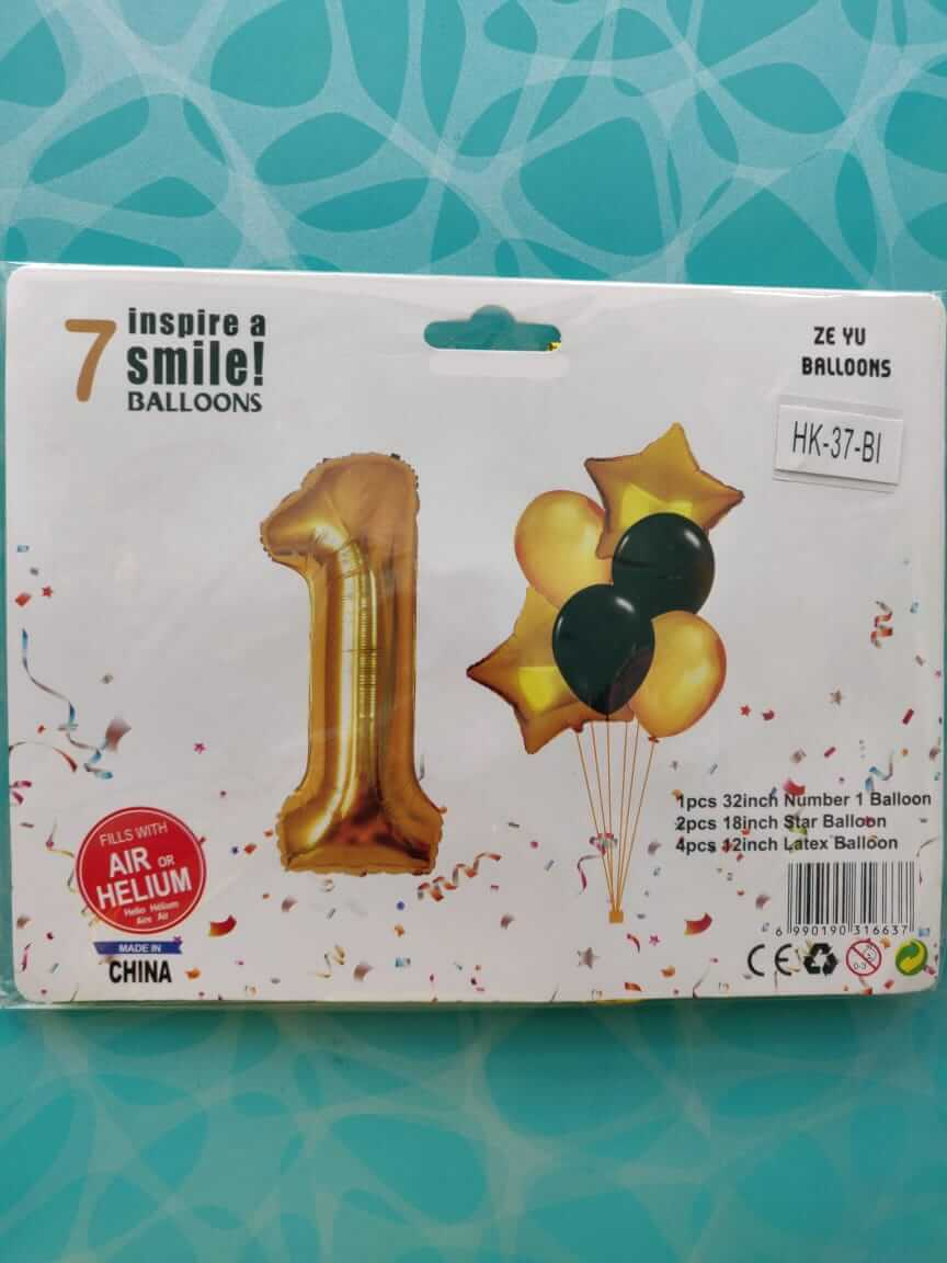 1st Birthday/Anniversary Decoration Foil Balloon Combo for 1st Birthday Decoration Girl/Boy