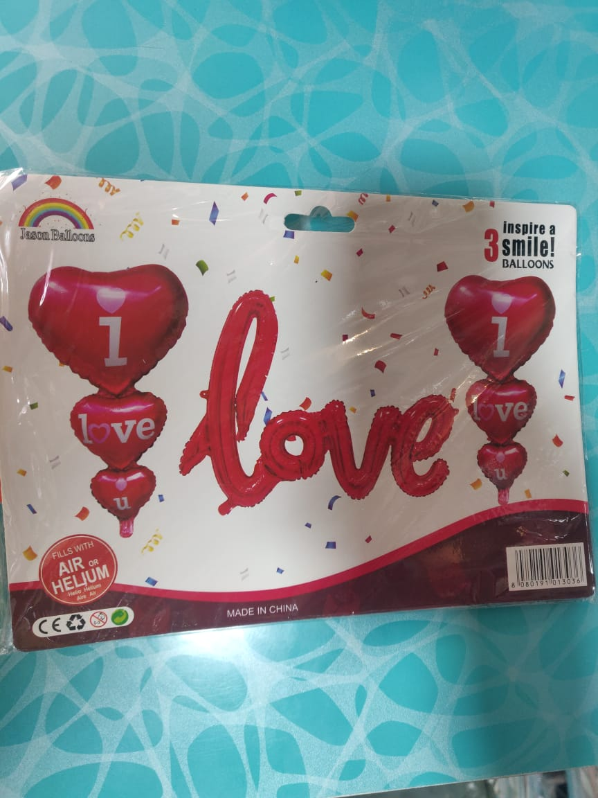 Love and i love you balloons set