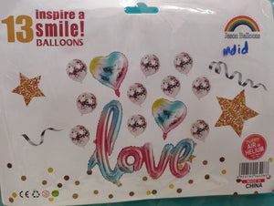 Love balloon set