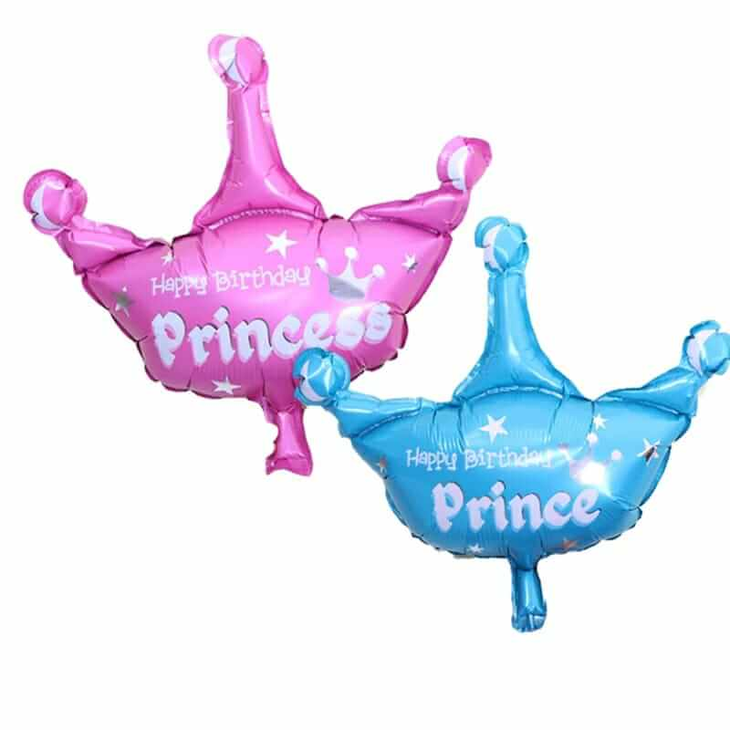 Princess / Prince Crown Shaped Foil Party Balloon for Birthday