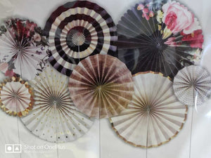 Variety of Exclusive Paper fan 8 pc