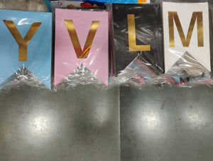 Personalised paper Name letters/Alphabets