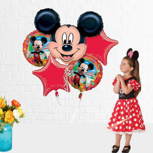 Mickey Mouse FOIL Balloon Bouquet / Mickey Mouse Party Supplies / Mickey Mouse Party Decoration
