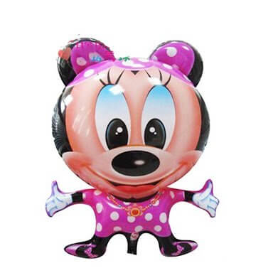 Mini girls mickey theme balloons set of 4