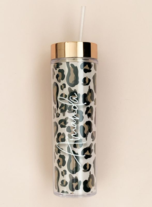 Leopard Bridal Party Tumbler