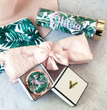 Personalized Palm Leaf Compact