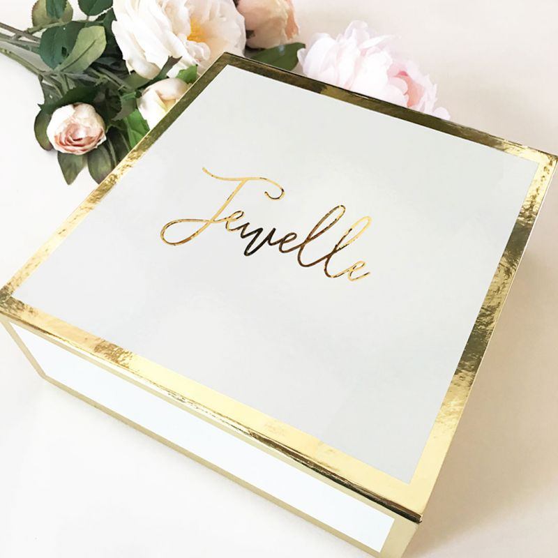 Personalized Gold Gift Box