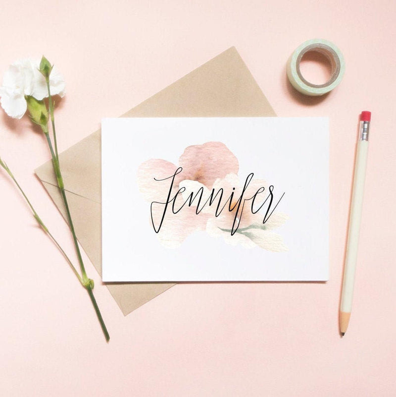 Customized Floral Watercolor
