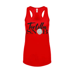Ladies Tortilla Snob Racerback T-Shirt Tank Top