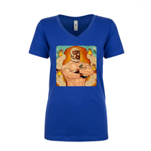 Load image into Gallery viewer, Ladies V-Neck Granny's Luchador Parody T-Shirt