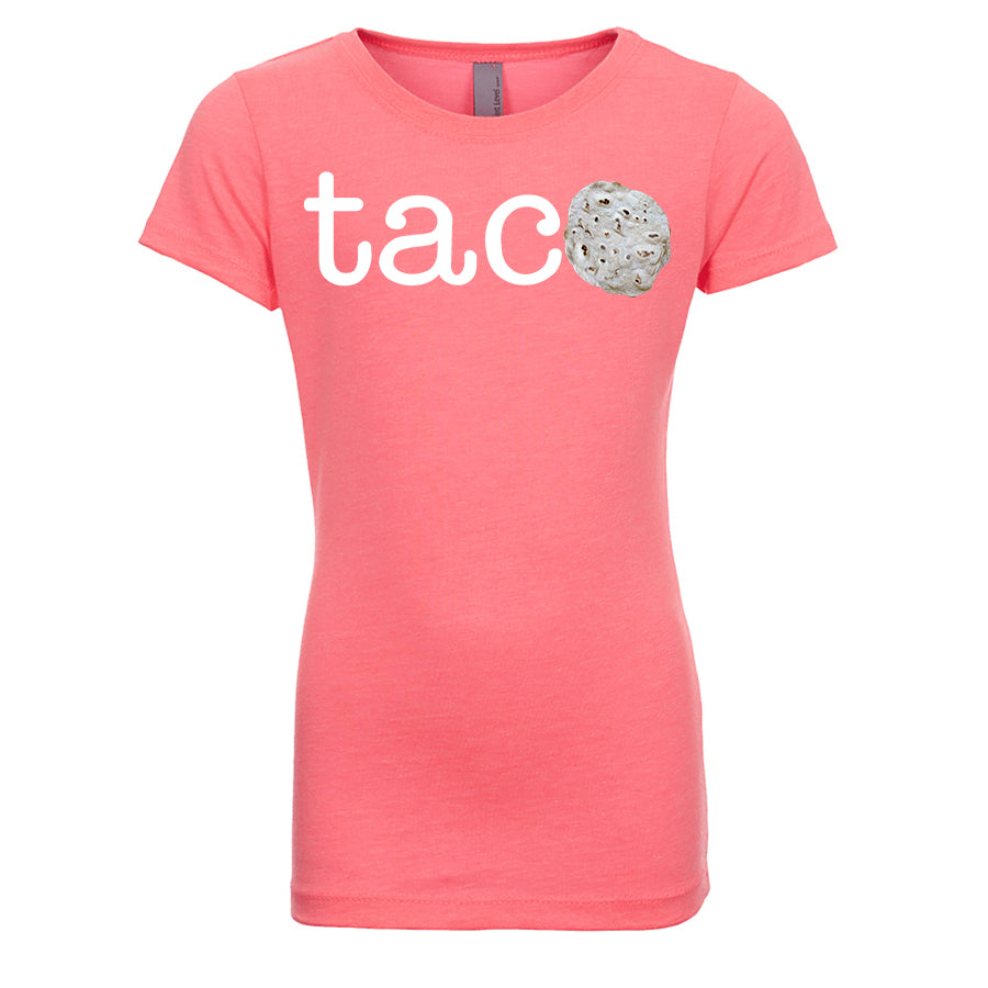 Girl's TACO Parody Tortilla - White Letters