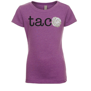 Girl's TACO Tortilla - Black Letters