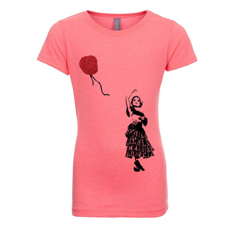 Girl's Artsy T-Shirt - Red Tortilla Balloon