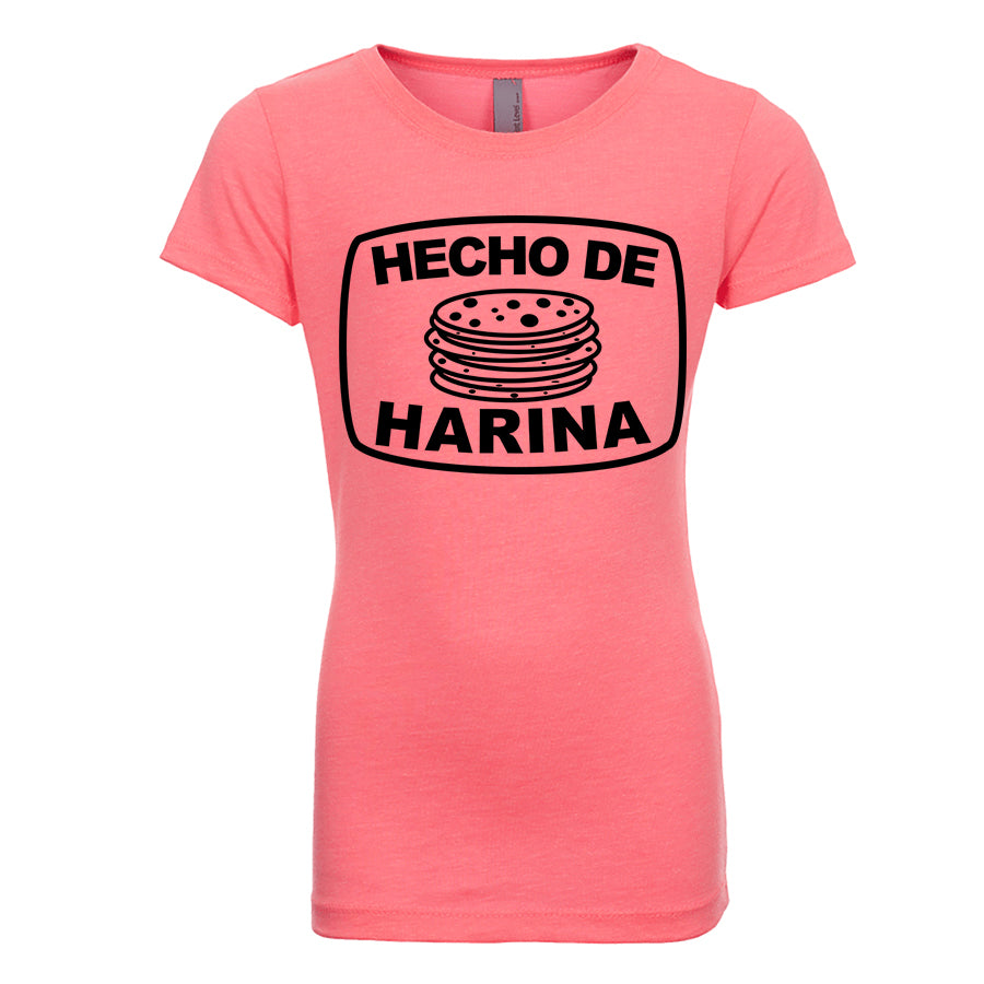 Girl's Hecho de Harina T-Shirt - Black Design