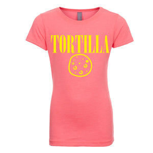 Girl's Princess Tee Smell Like A Tortilla - Yellow Design