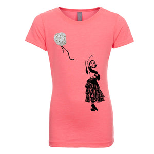 Girl's Artsy T-Shirt - Natural Tortilla Balloon