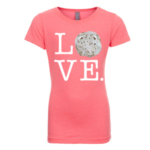 Girl's Love Tortilla T-Shirt - White Lettering
