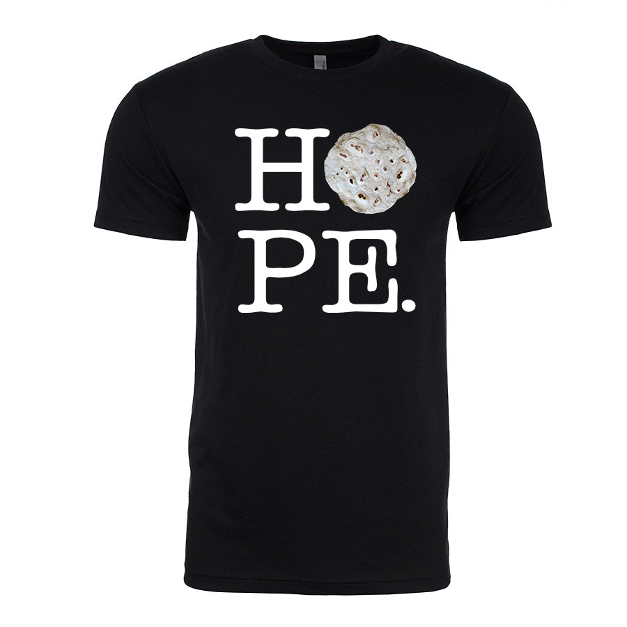 Men's Tortilla HOPE white lettering<br>Parody T-Shirt