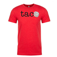 Load image into Gallery viewer, Men's TACO Black Lettering <br>Parody T-Shirt