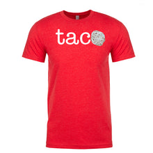 Load image into Gallery viewer, Men's Tortilla TACO white lettering<br>Parody T-Shirt