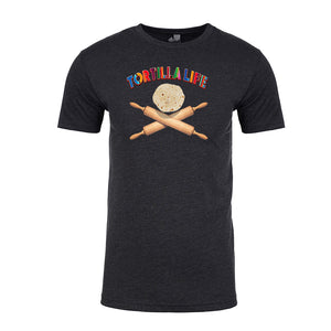 Men's Mexican Parody T-shirt- Rolling Pins with Serape Letteing