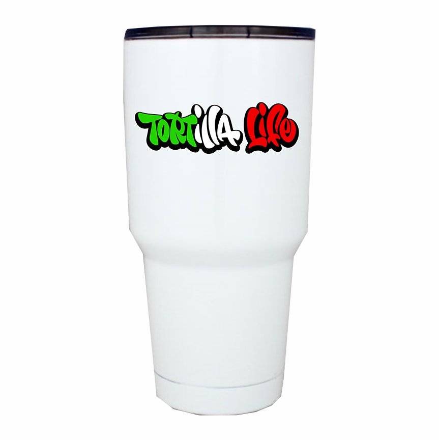 30 oz. Tumbler Tortilla Life Mexican Flag