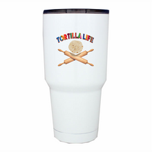 Load image into Gallery viewer, 30 oz. Serape Lettering Tumbler Tortilla Life w/Rolling pins