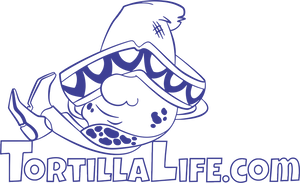 Ladies V-Neck Tortilla Life Solid Logo - Blue
