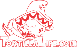 Ladies V-Neck Tortilla Life Solid Logo - Red