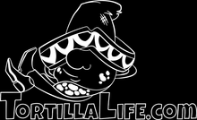 Load image into Gallery viewer, Men's Tortilla Life Logo T-Shirt - White Logo