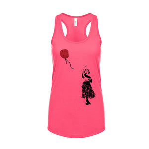 Ladies Artsy Racerback Tank Top - Red Balloon