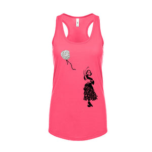 Ladies Artsy Racerback Tank Top - Natural Balloon