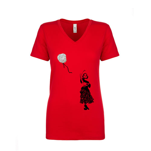 Ladies Tortillartsy V-Neck T-Shirt -Natural