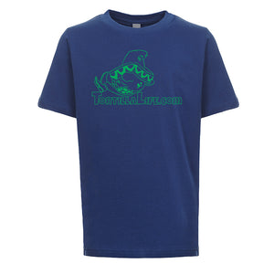 Kids Unisex/Boy's Logo T-Shirt - Green Design