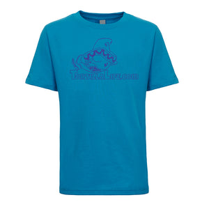 Kids Unisex/Boy's Logo T-Shirt - Blue Design
